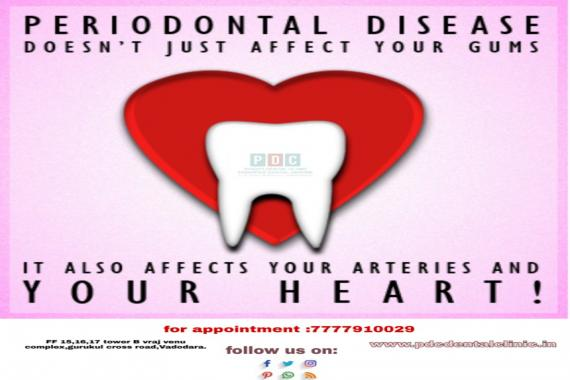 gum disease affect yours heart too !